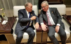 Meeting with European Commission President Jean-Claude Juncker at G-20 Summit