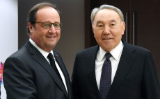 Meeting with Francois Hollande, ex-President of France, member of the Constitutional Council of France