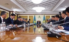 Meeting with akims of Astana, Almaty and regions