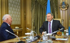 Meeting with academician Kenzhegali Sagadiyev