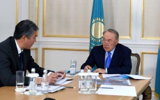 Meeting with Asset Issekeshev, akim of Astana