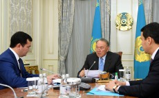 Meeting with Investments and Development Minister Zhenis Kasymbek